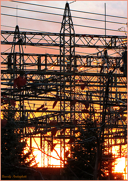 Sunset at the Hydro Sub-Station
