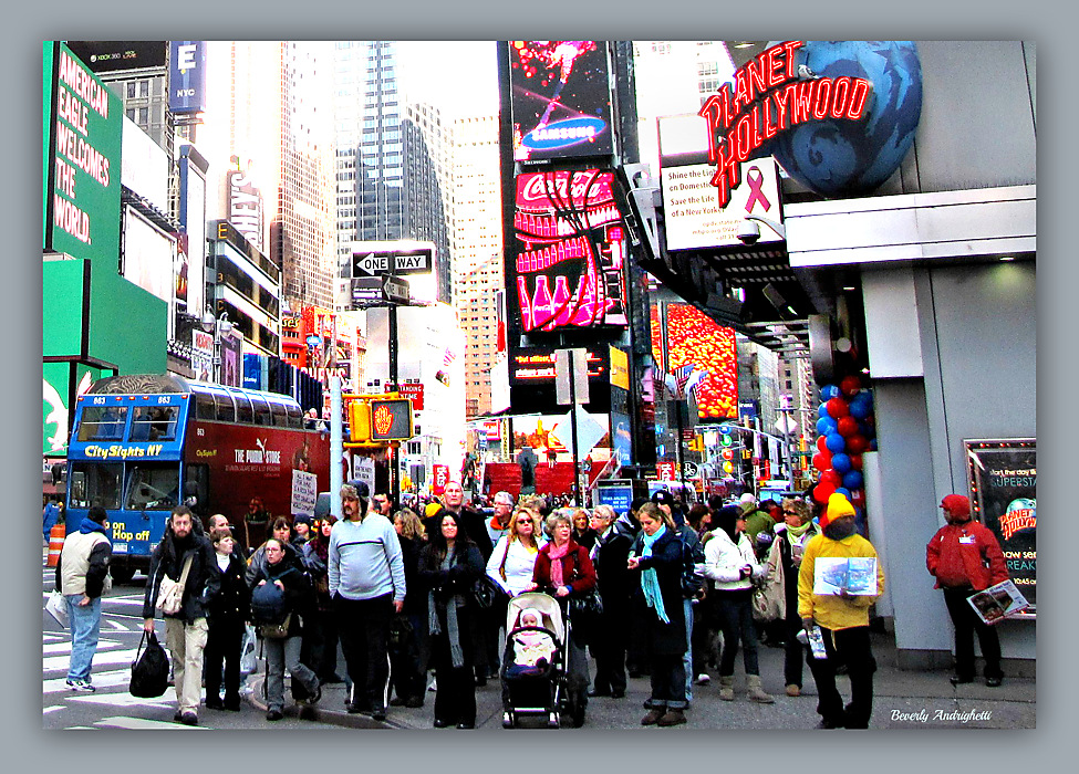 photoblog image Waiting To Cross - Times Square, NYC