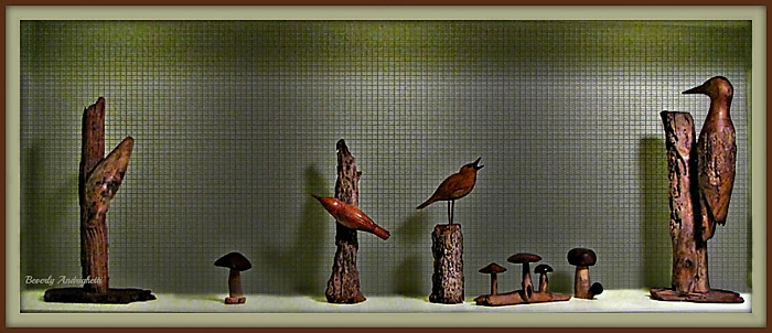 photoblog image Hand-carved wooden bird collection