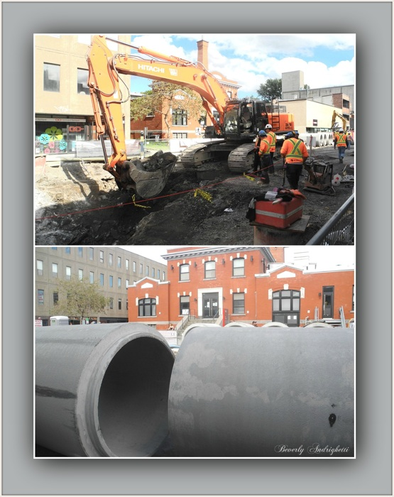 photoblog image Working to repair Montreal's infrastructure